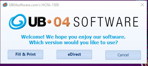 Relaunch Registration for HCFA-1500