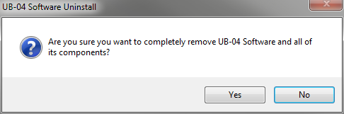 Uninstall UB-04